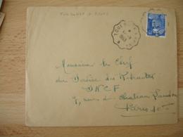 Toulouse A Brive Ambulant Convoyeur Poste Ferroviaire - Postmark Collection (Covers)
