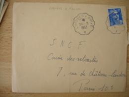 Limoges A Brive  Ambulant Convoyeur Poste Ferroviaire - Postmark Collection (Covers)