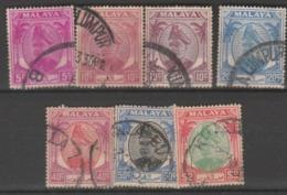 1949 USED STAMPS FROM MALAYSIA ,SELANGOR/ Sultan Hisamuddin Alam Shah - Selangor