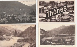 20 / 5 / 395  - THONES ( 74 ). LOT DE  12  CPA  TOUTES S CANÉES - Postales