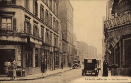 Cp Levallois Perret Hauts De Seine, Rue Jean Jaures - France