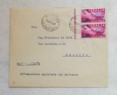 Busta Di Lettera Raccomandata Da Messina Per Città 25/10/1957 - 6. 1946-.. Repubblica