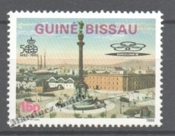 Guiné Bissau - Guinea 1986 Yvert 399A, 500th Years Of America Discovery. Barcelona Olympic Games Headquarters -  MNH - Guinée-Bissau