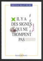 Document De Présentation Du Nouveau Billet De Banque De 200F Gustave Eiffel.   Banque De France. - Other