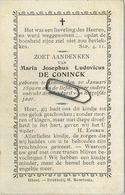 Maria De Coninck  :  Geel  1899  -  1899      (  See Scans )   KIND - ENFANT - CHILD - Imágenes Religiosas