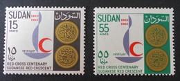 CENTENAIRE DE LA CROIX-ROUGE INTERNATIONALE 1963 - NEUFS ** - YT 160/61 - Sudan (1954-...)