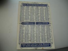 1922 L Arba Amer Et Anis Zette Calendrier - Calendars