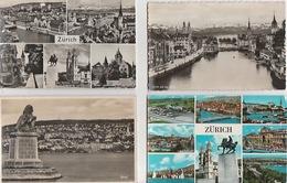 20 / 5 / 399  - ZÜRICH  -  LOT  DE    11  CPSM  - TOUTES SCANÉES - Postales