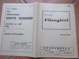 NAPOLI Cinema FILANGIERI Programma Film La Notte è Fatta Per Rubare Catherine Spaak Philippe Leroy Pubblicità - Programs