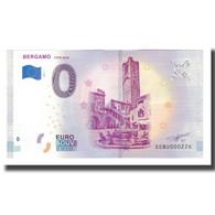 Italie, Billet Touristique - 0 Euro, Italy - Bergamo - La Citta Alta - Quartier - Otros