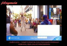 CUBA. ENTEROS POSTALES. TARJETA POSTAL FRANQUEO PREPAGO. 2011 TURISMO & CULTURA. HABANA VIEJA. CALLE MERCADERES - Cuba