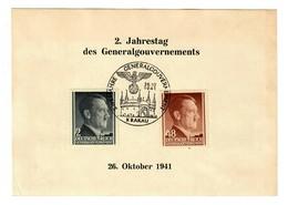 GG 1941: Offizielle Gedenkkarte Der Deutschen Post Osten, 2 Jahre GG - Besetzungen 1938-45