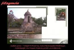 CUBA. ENTEROS POSTALES. TARJETA POSTAL FRANQUEO PREPAGO. 2011 TURISMO & CULTURA. CARRUAJE. ANTIGUA MURALLA DE LA HABANA - Cuba
