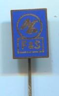 Motorbike, Motorcycle, Motorrad, Fahrrad - F&S Germany Fichtel & Sachs, Vintage Pin, Badge, Abzeichen, Enamel - Motorfietsen