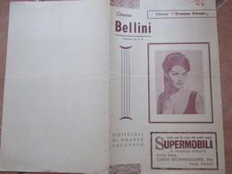 NAPOLI Cinema BELLINI Programma Film Marcellino Pan Y Vino Pablito Calvo Antonio Vico  Pubblicità - Programs