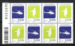 TAAF. N°743 & 744 De 2015. Hélicoptère/Pingouin. - Helicópteros
