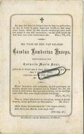 Carolus Knaeps :  Geel 1833 -  1885    (see Scans) - Imágenes Religiosas