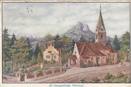 9838-OBERMAIS-MAIA ALTA-MERANO(BOLZANO)-ST. GEORGENKIRCHE-1919-FP - Merano