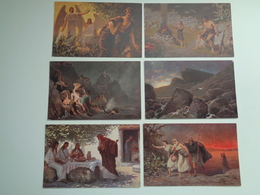 """Beau Lot De 12 Cartes Postales De """" L' Histoire Sainte """" """" Les Temps Primitifs Et Patriarches """"  12 Postkaarten - Postales"""