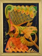 Jelzés Nélkül: Pillangó-álom. Olaj, Vászon. 37x51 Cm - Andere Verzamelingen