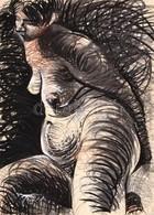 Csikós 82 Jelzéssel: Női Akt. Akvarell, Pasztell, Papír, Szélén Apró Szakadásokkal, 86x61 Cm - Other Collections