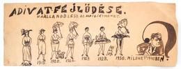 Cca 1925 Jelzés Nélkül: A Divat Fejlődése. Tus. Papír. 13x35 Cm - Other Collections