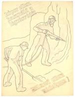 """Jelzés Nélkül, Feltehetően Börtsök László (?-?) Reklámgrafikus: 3 Db Plakátterv, 1930-40 Körül. """"Baleset Ellen Védekezz! - Other Collections"""