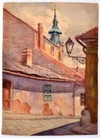 Jelzés Nélkül: Tabán. Akvarell, Papír, 34,5x25 Cm - Other Collections