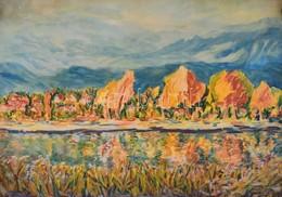 Jelzés Nélkül: Őszi Tál. Akvarell, Papír, Felcsavarva, 43×61 Cm - Other Collections