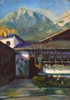 Jelzés Nélkül. Alpesi Táj. Olaj, Karton, 34x25 Cm - Other Collections