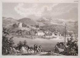 Cca 1850 Kiskőszeg Látképe, Battina An Der Donau, Acélmetszet, Hildburghausen, Kunstanstalt Des Bibliographisches Instit - Engravings