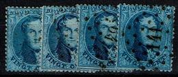 15B  Obl  4 Nuances - 1863-1864 Medallones (13/16)
