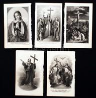 Litográfiák: Szent Képek, Bibliai Jelenetek, 5db, 14,5xc9cm - Engravings