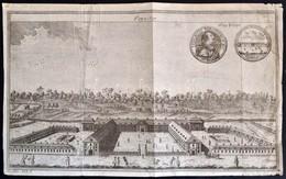 1748 Berlin, Frigyes Porosz Király és A Palota Rézmetszetű Képe / Copper Plate Image Of Friedrich Prussian King And Berl - Engravings