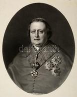 1854 Raffaele Cardinal Fornari (1787-1854) Olasz Bíboros Nagyméretű Kőnyomatos Portréja. Lafosse Kőrajz. / 1854 Cardinal - Engravings