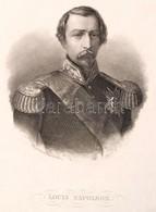 Louis Napoleon Acélmetszetű Portré / Engraving 11x16 Cm - Engravings