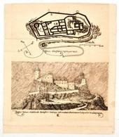 Regécz Alapfalai 1904. Junius 2. és Regécz Keleti Oldalának Középkori Látképe Tekintettel A Kataszteri Helyszín és Alapr - Engravings