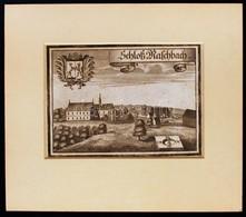 Cca 1750 Schloss M. Aschbach, Acél Metszet, Papír, Paszpartuban, 12,5×17,5 Cm / 1750 Schloss March Aschbuch Steel Engrav - Engravings