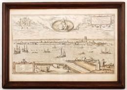 1575 Dordracum Vulgo Dortt. Dordrecht Holland Kikötőváros Látképe, Színezett Rézmetszet, Papír, Georg Braun (1541-1622)  - Engravings
