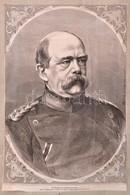 Bismarck Portré. Rotációs Fametszet. 24x37 Cm - Engravings
