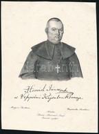 Horváth János (1769-1835) Püspök Litografált Képe. 15x20 Cm - Engravings