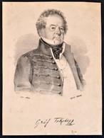 Cca 1830 Gróf Fekete János (1741-1803) Generális Litografált Portréja 13x18 Cm - Engravings