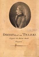Széki Teleki Domokos Gróf (1773-1798) Utazó, útirajzíró, Mineralógus, Költő, Királyi Táblai ülnök Litografált Portréja.  - Engravings