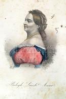 1863 Balogh Laszló Anna Színes Litográfia. 11x16 Cm Üvegezett Keretben - Engravings