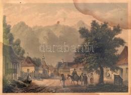 Cca 1840 Ludwig Rohbock (1820-1883): Veszteglő A Verestoronyi Szorosban. Színezett Acélmetszet Beszakadással. Foltos. Üv - Engravings