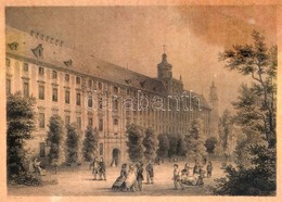 Ahrens: A Bresaui Egyetem Acélmetszet / Die Universität In Breslau. Steel Engraving. 16x12 Cm Üvegezett Keretben - Engravings
