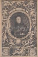 Cca 1750 XIII. Benedek Pápa és Szent Benedek Elődeinek Rézmetszetű Képe. 18x29 Cm Üvegezett Keretben / Pope Benedict XII - Engravings