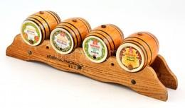 "Hollóházi Porcelán 4 Db, ""Promontor Bitter Aperitif"",""Promontor Vörös Aperitif"", ""Márka Vermouth Dry"", ""Márka Vermouth"", - Porselein & Ceramiek"