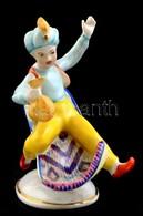 Hollóházi Porcelán Aladdin, Kézzel Festett, Jelzett, Kis Kopásnyomokkal, M: 12,5 Cm - Porselein & Ceramiek