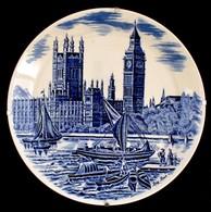 """Johnson Brothers Porcelán """"Big Ben"""" Falitányér, Matricás, Jelzett, Hibátlan, D: 25 Cm - Porselein & Ceramiek"""
